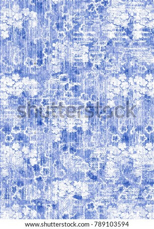 Abstract art classic luxury and elegant style pattern background in popular modern flower, damask , checked  design trend 2018 for print on card paper fabric poster carpet and linen, rug, wallpaper