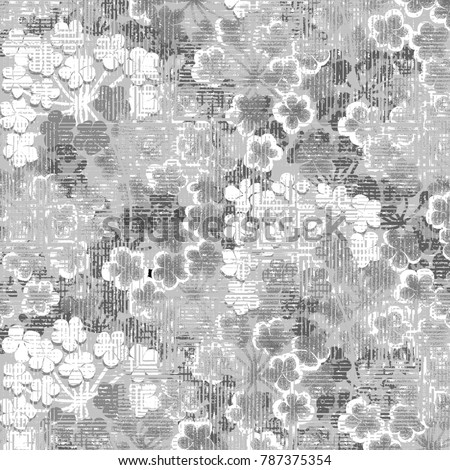 Abstract art classic luxury and elegant style pattern background in popular modern grunge flower design trend 2018 for print on card paper fabric poster carpet and book cover