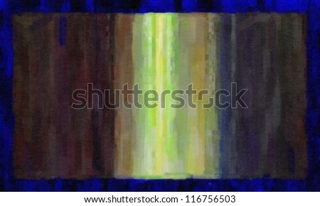 Abstract art lines of paint. digital structure of painting. - stock photo