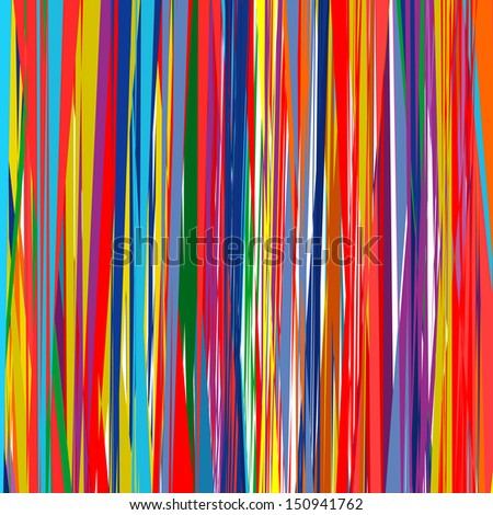 Abstract art rainbow curved lines color background 7