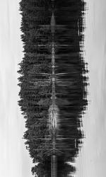 Abstract art Swedish lakes b&w