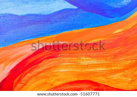 Abstract art textured background, closeup fragment from a colorful acrylic painting on wood