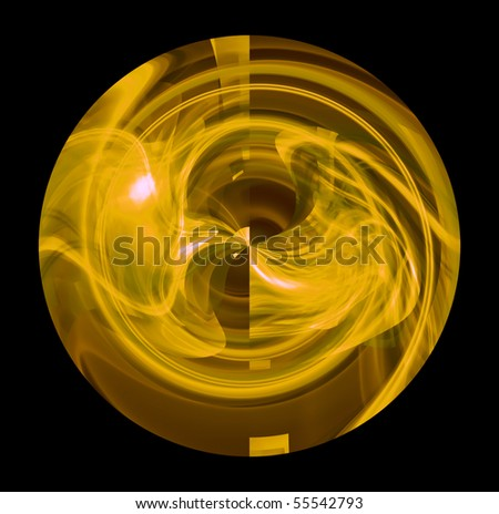 wallpaper yellow and black. art yellow ball on lack