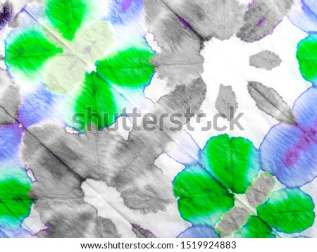 Abstract Artistic Background. Grunge Style. Acrylic Artwork. Indigo Brushstrokes on Painting Background. White Base. Green Dirty art. Trendy tie-dye pattern. Ink blur.