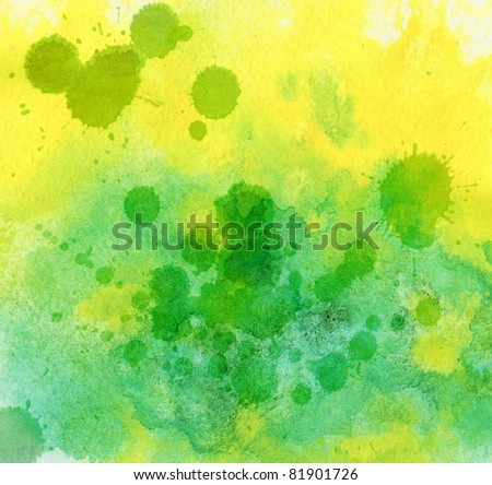 Abstract artistic background, watercolor, hand painted on a paper