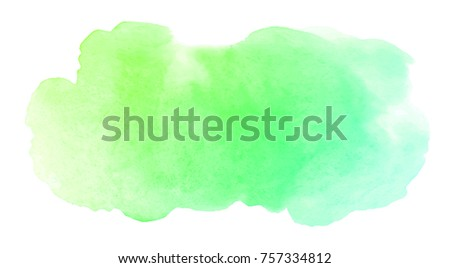 Abstract artistic brush stroke with stains isolated on white background