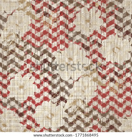 Abstract, artistic flecked stroke,  natural noisy grid check. Seamless pattern with  fabric texture  seamless digital print pattern