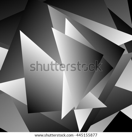 Abstract artistic image with triangular, geometric forms. Angular, edgy artistic image.