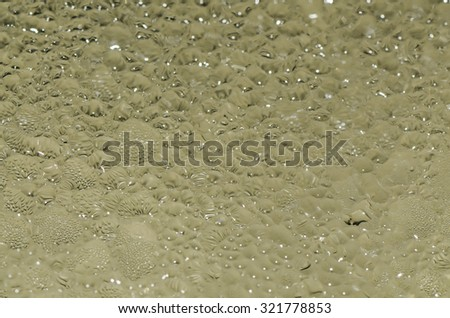 Abstract arts with water droplets background / Water droplets / Creativity with water as the medium