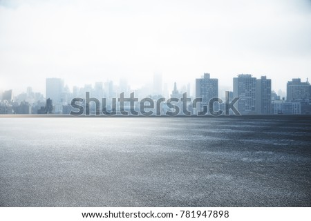 Abstract asphalt and city skyline wallpaper