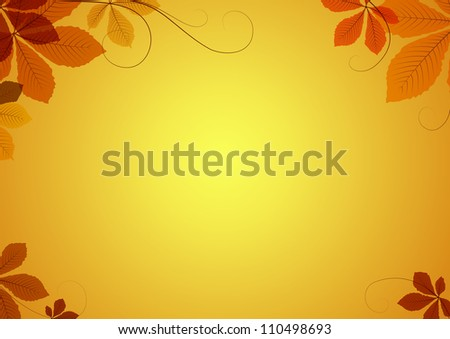Abstract autumn background with chestnut leaves. Vector version available in my portfolio