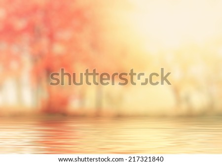 Stock Photo abstract autumn background with reflection effect