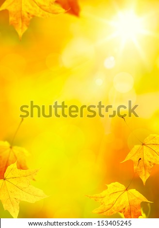 abstract autumn yellow leaves background