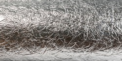 abstract background aluminium foil wrinkled for background