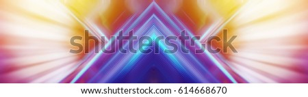 Abstract background arrow triangle motion and raylight for digital technology concept.