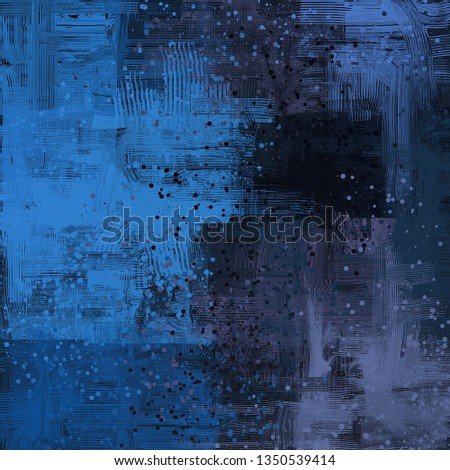 Abstract background art. 2d illustration. Expressive handmade oil painting. Brushstrokes on canvas. Modern art. Multi color backdrop. Contemporary. Colorful digital backdrop. #1350539414