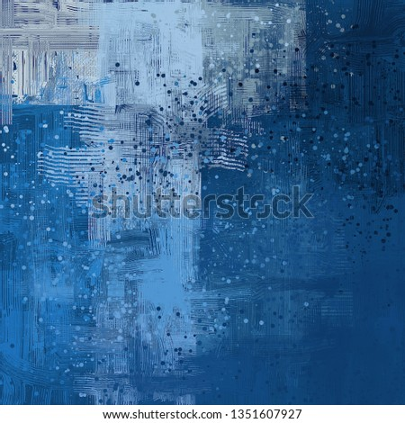 Abstract background art. 2d illustration. Expressive handmade oil painting. Brushstrokes on canvas. Modern digital art. Multi color backdrop. Contemporary. Expression. Popular style. #1351607927