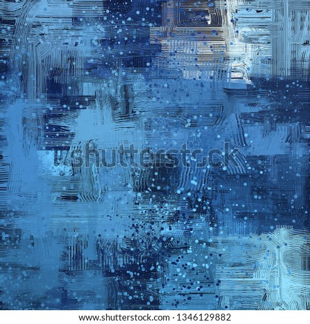 Abstract background art. 2d illustration image. Expressive hand drawn oil paint. Brushstrokes on canvas. Modern digital art. Multi color backdrop. Contemporary art. Expression. Popular art. #1346129882