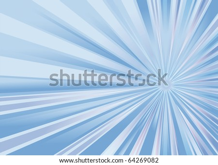 abstract background as a refulgence of rays in the blue key