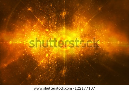 Abstract background - Big Explosion of the sun - End of the world prophecy - Apocalypse