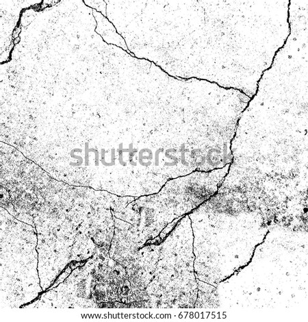 Abstract background black and white from cracks, stains, chips #678017515