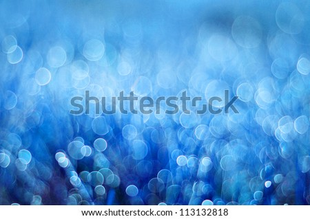 abstract background blue bokeh circles
