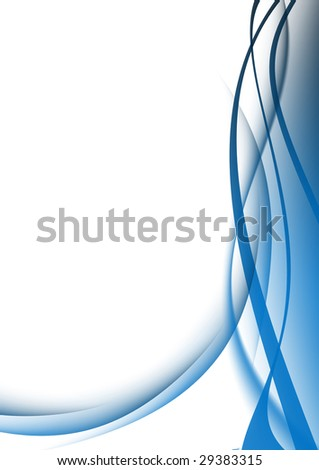 abstract background blue curves