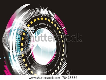 abstract background - bright flashes in the black