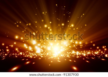 Abstract background - bright orange lights
