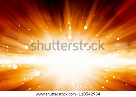 Abstract background - bright red lights looks like explosion