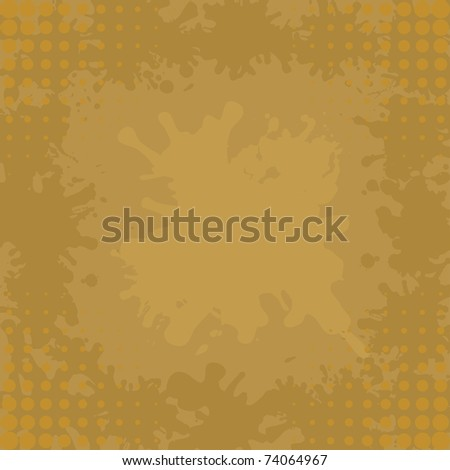 Abstract background, brown coffee stains and blots