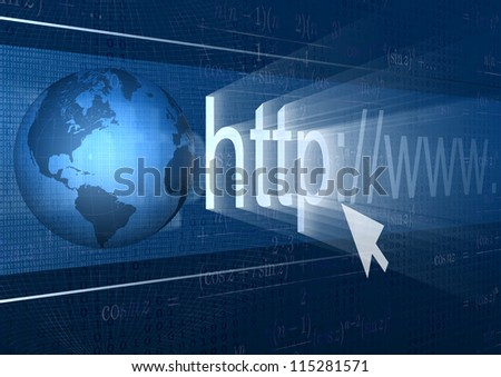 abstract background browser address world wide web
