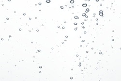 Abstract background. Bubbles in a clear water