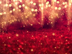 abstract background christmas lights garland