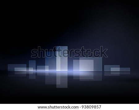 Abstract background - city landscape at night - modern skyline brochure cover concept