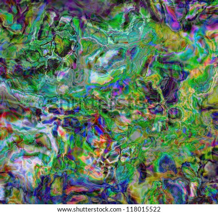 abstract background, color painted bended lines mixed colors