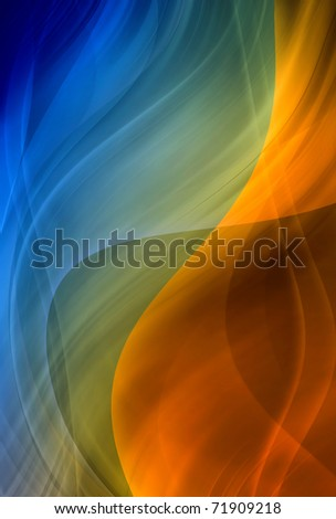 Abstract background, colorful waves, blue and brown color