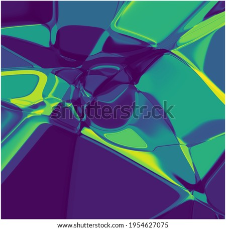 abstract background computer generated green blue liquid dynamic  fluid 3d physics simulation artificial intelligence generative art fractal high resolution hifi smooth noise beautiful science pattern