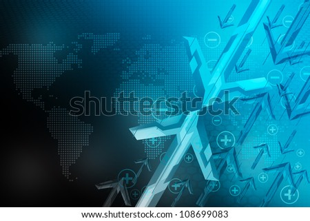 Abstract background, concept of world - stock photo