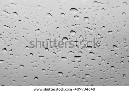 Abstract background, Condensation on the glass surface.,  Black and White  #489904648