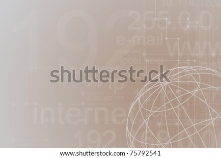 Abstract background connection on a brown