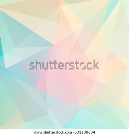 abstract background consisting of pastel yellow, pink, green triangles
