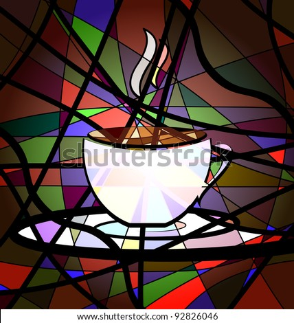 abstract background cup of coffee