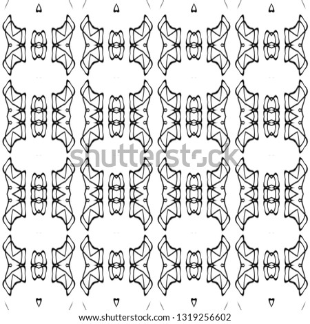 Abstract background,decorative series with digital paint brush,creative series with illustration progress,composition with black and white.Contemporary and luxury background. Tribal pattern concept. #1319256602