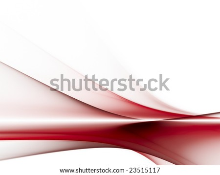 Red on white abstract illustrations