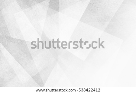abstract background design, geometric lines angles shapes in white and gray layers of transparent material