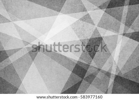 abstract background design of white angled stripes lines and triangles on black textured material