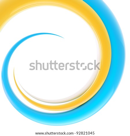 Abstract background, design template made of bright glossy spiral twirl