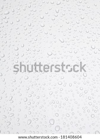 Abstract background. Drops of water on the silver material.