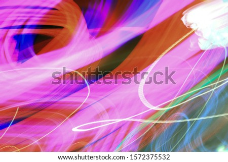 abstract background, dynamic, flow, network, space, discharge, lighting, garland, purple, pink, night, Black, rotation, light, fractal, aspiration, luminous lines, cyberspace, cosmic, close-up